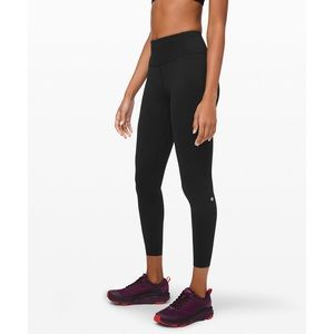 "Lululemon Fast and Free Tight 25"" Non-Reflective"